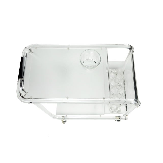 Lucite & Chrome Bar Cart For Sale In New York - Image 6 of 8