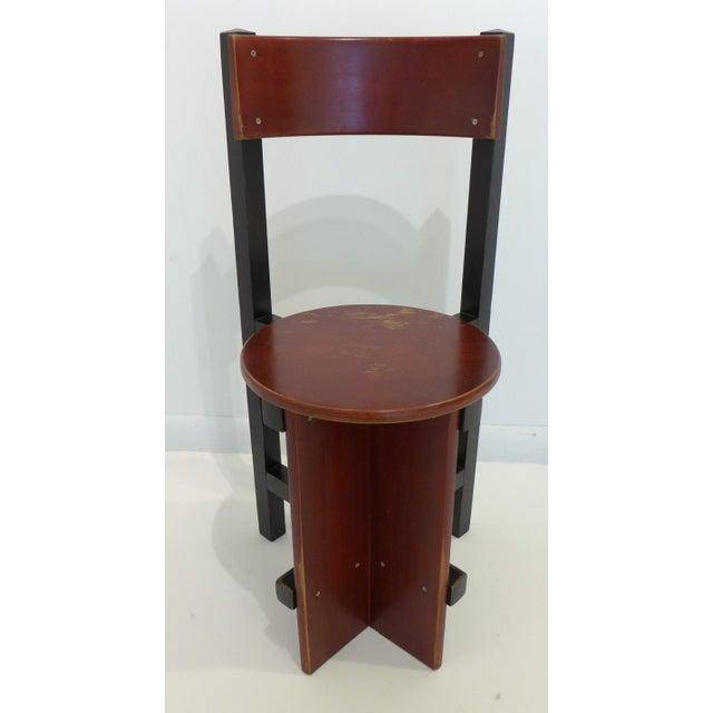 "Mid-Century Modern Constructivist ""Bastille"" Chair by Piet Blom For Sale - Image 3 of 9"