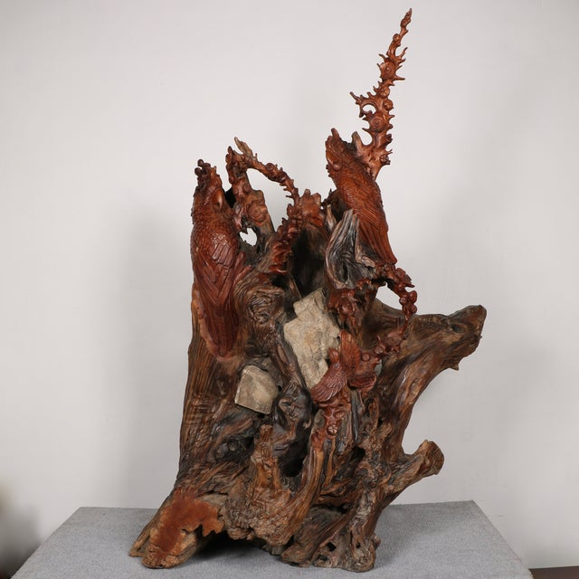 Carved Root Sculpture - Image 2 of 11