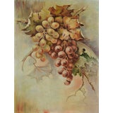 Image of Grapes Still Life Oil Painting by Henry Jackson For Sale