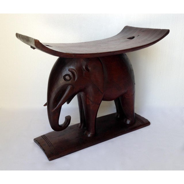 1920s 1920s Vintage African Ghana Elephant Ashanti Bench For Sale - Image 5 of 11
