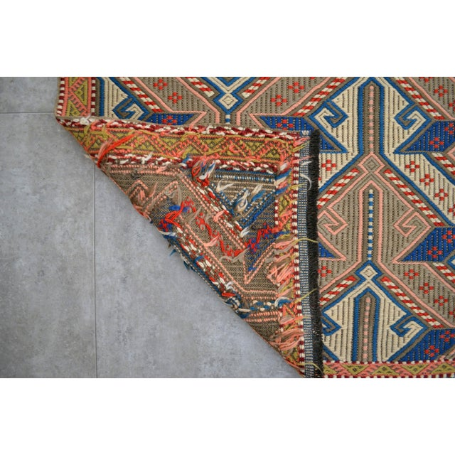 """Vintage Masterpiece Braided Rug. Hand Woven Small Area Rug - 3' 7"""" X 6' For Sale - Image 9 of 10"""