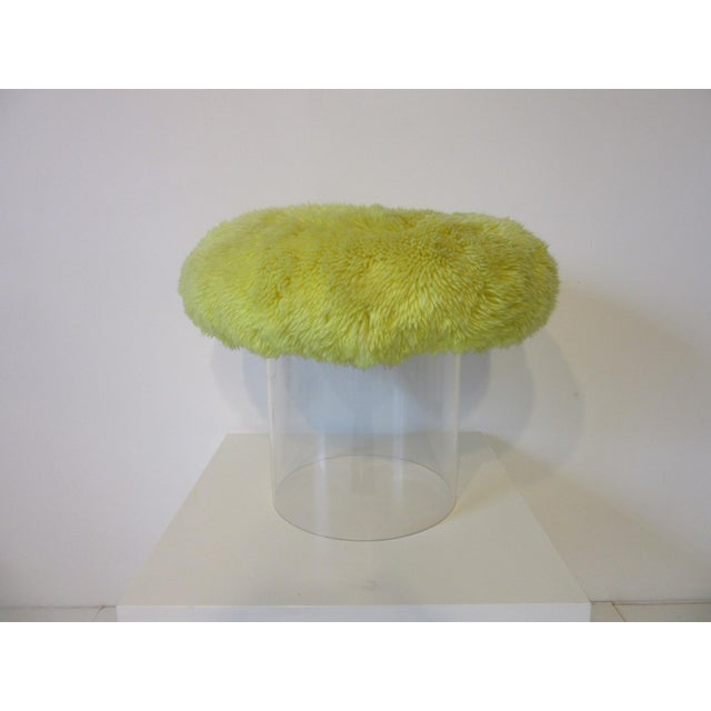 Late 20th Century Lucite Vanity Stool Used on the Phil Donahue Show For Sale - Image 5 of 7