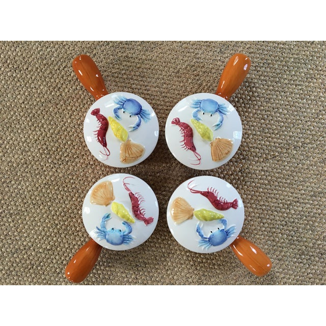 1950s Set of 4 Nautical Oven Proof Hand Painted Casserole Dishes - Made in Japan For Sale - Image 12 of 13