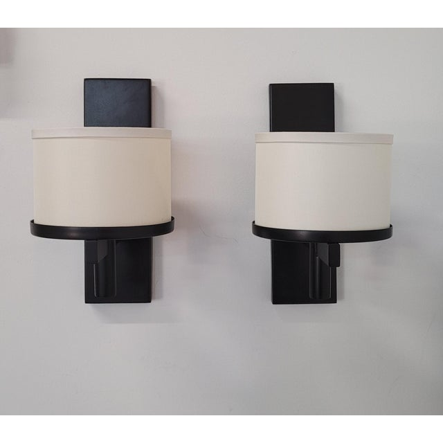 Paul Marra Design Silk Drum Sconce - a Pair For Sale In Los Angeles - Image 6 of 6