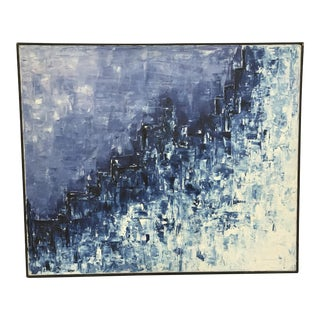 Mid 20th Century Abstract Expressionist Acrylic Painting, Framed For Sale