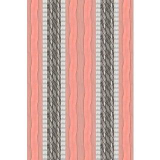 Palm Peach Stripe Medium Wallpaper For Sale