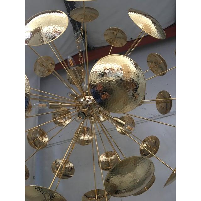 Huge and Rare Century Gold Metal Frame Sputnik Chandelier For Sale - Image 9 of 13