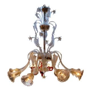 Zanchi Murano - 8 - Light Venetian Chandelier For Sale