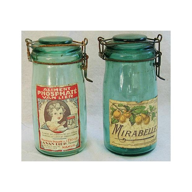 Early 1900s French Preserve Canning Jars - A Pair - Image 2 of 6