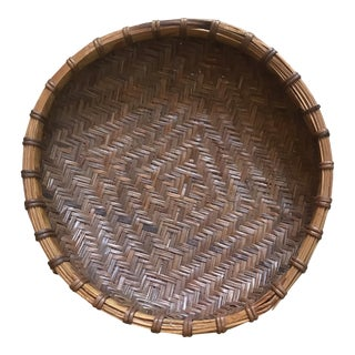 Vintage Round Flat Drying Basket For Sale
