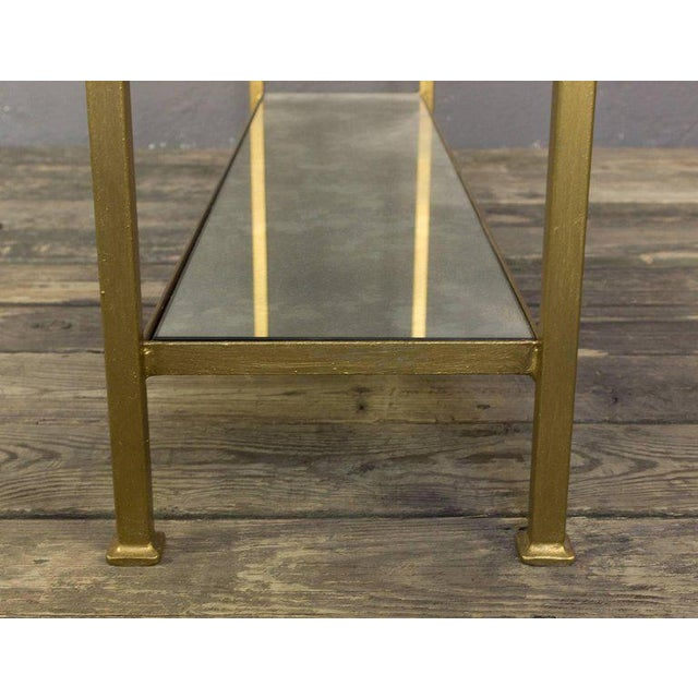 Custom-made Marcelo Console Table With Antique Mirror Shelving - Image 8 of 10