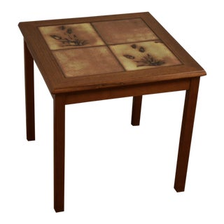Danish Teak and Tile End Table
