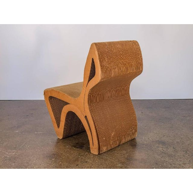 Mid-Century Modern Vintage Corrugated Cardboard Chair For Sale - Image 3 of 9