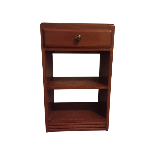 Vintage Wood One Drawer Nightstand Side Table - Image 1 of 5