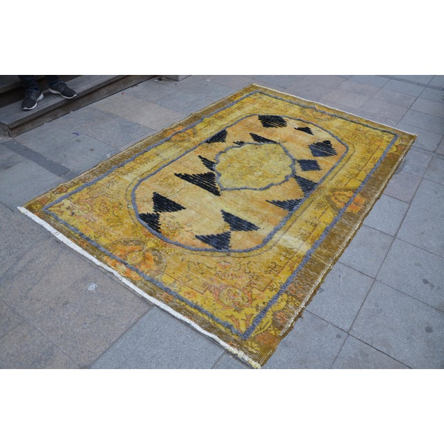 Islamic Overdyed Handmade Rug - 5′8″ × 8′10″ For Sale - Image 3 of 6