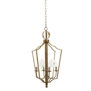 Maher Gilded Iron Lantern For Sale