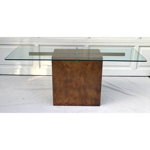 Vintage Lane Burl Wood Console Table For Sale - Image 10 of 12