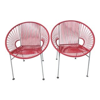 Modern Outdoor Chairs - A Pair