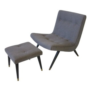 Scoop Lounge Chair With Ottoman For Sale