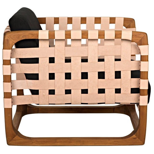 Teak Nebula Chair, Natural For Sale In Los Angeles - Image 6 of 9