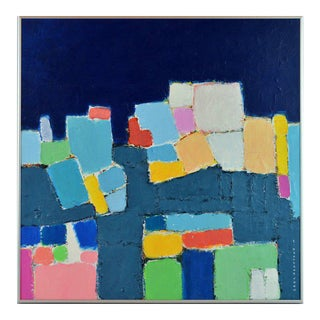 'L'heure Bleu' Contemporary Abstract Composition by Lars Hegelund, American For Sale