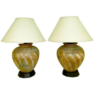 Pair of 1980s Lamps From Estate Designed by Steve Chase For Sale
