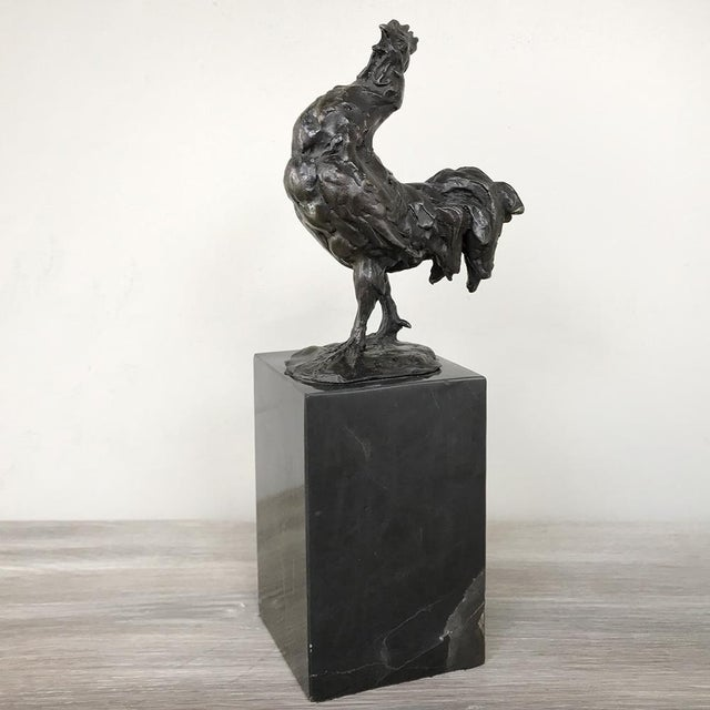 Mid-Century Bronze Statue of Rooster For Sale - Image 4 of 13