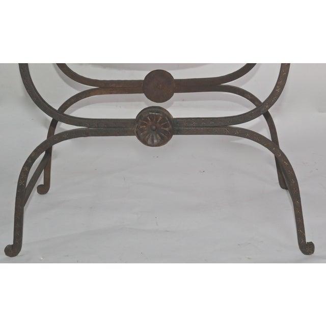 Large Iron and Bronze Savonarola Faldistorio Curule Bench For Sale In Los Angeles - Image 6 of 7