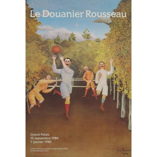 1984 Original French Exhibition Poster - Le Douanier Rousseau, the Football Players For Sale