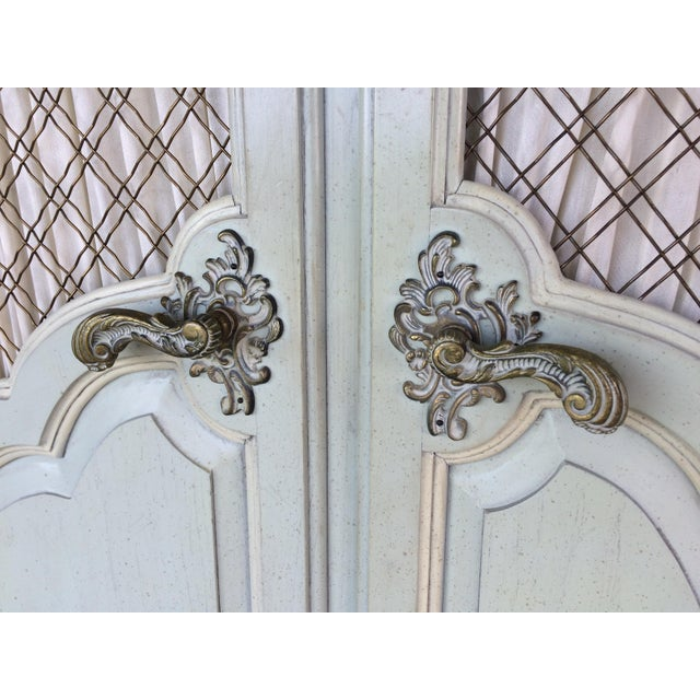 White Hickory White French Provincial Armoire For Sale - Image 8 of 11