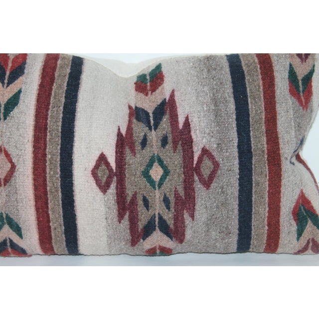Textile Native American Style Serape Pillows - A Pair For Sale - Image 7 of 10