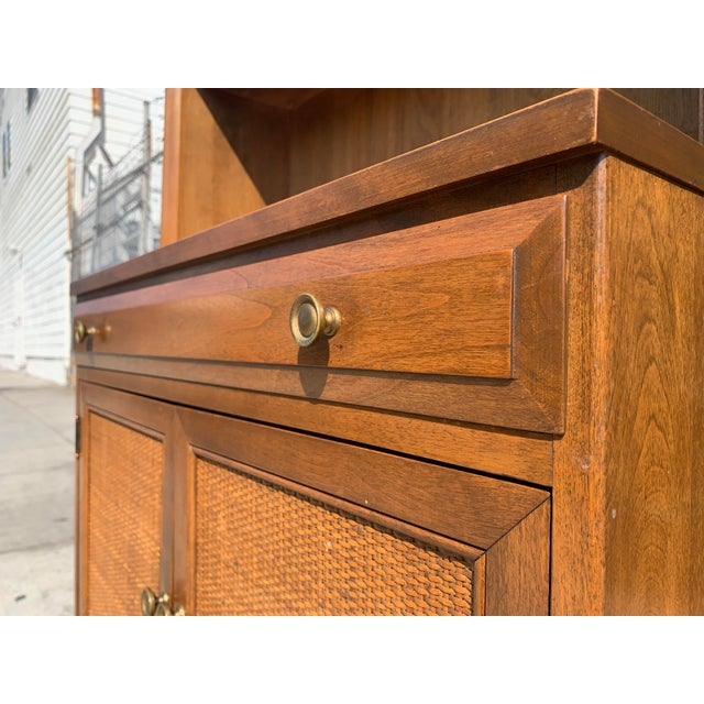 Wood Mid Century Modern Display Shelf Cabinet For Sale - Image 7 of 10