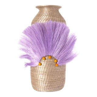Fanned Out Large Tall Vase Flax For Sale