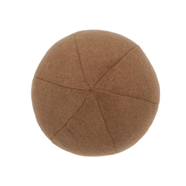 """This 12"""" round pillow features Dixon Mohair Weave in Vicuna. With a brushed and felted finish, this mohair weave has a..."""