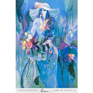 1992 Isaac Maimon 'Laura's Day' Contemporary Usa Offset Lithograph For Sale