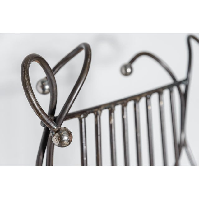 Modern Sculptural Iron Chair Hand Made by Unknown Artist For Sale - Image 4 of 11