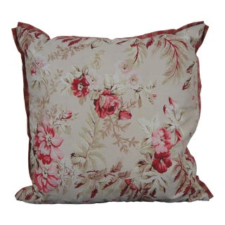 Arhaus Rosalee Floral & Stripe Down Fill Throw Pillow For Sale