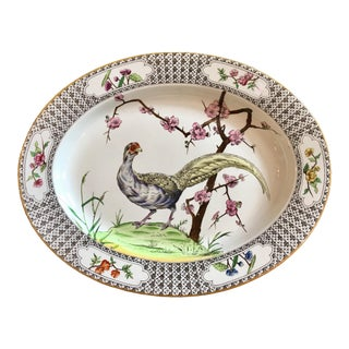 1940s English Pheasant Platter For Sale