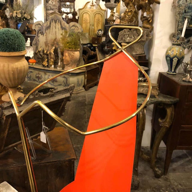 Gio Ponti 1950s Italian Mid-Century Modern Brass Umbrella Stand For Sale - Image 4 of 11
