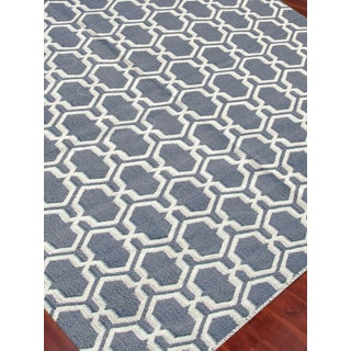 Zara Trellis Dove Gray Flat-Weave Rug 5'x8' Preview