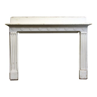 White Wood Mantel With Florets