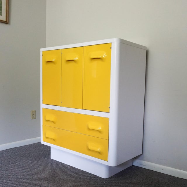 Mid century modern Chapter One armoire dresser made By Broyhill Premier. Great mod look from the 70's, this was inspired...