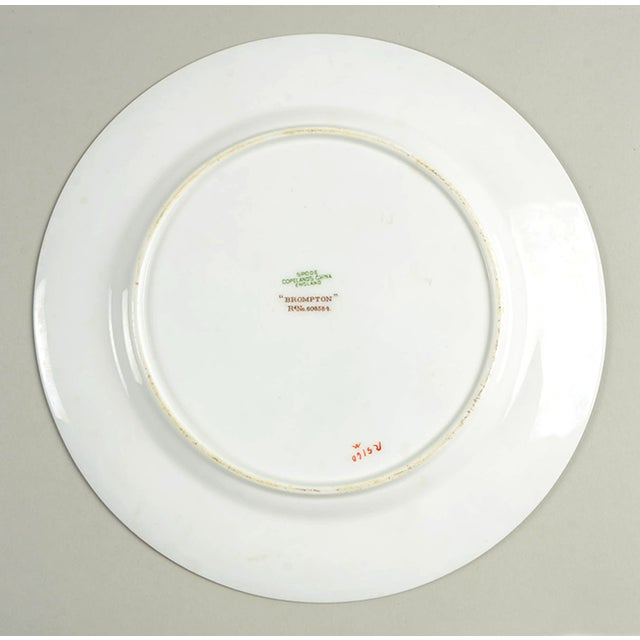 Early 20th Century Vintage Spode Brompton Blue Luncheon Plate - Set of 8 - Set of 8 For Sale - Image 5 of 7