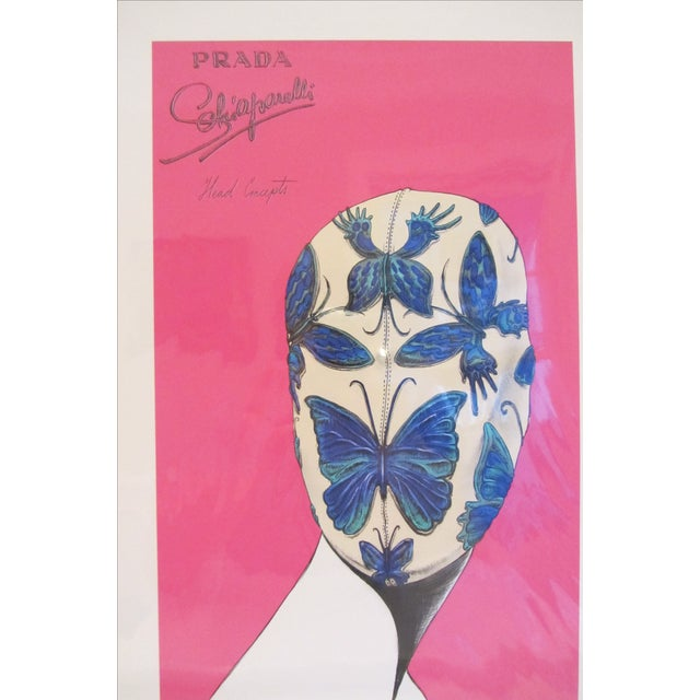 """White Prada """"Head Concepts"""" Museum Prints - Set of 9 For Sale - Image 8 of 11"""
