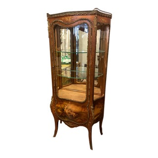 French Mounted Vitrine Showcase With Key For Sale