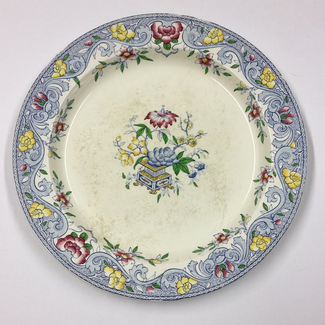 Ceramic Antique 1860s Minton & Co. Transfer Ware Plate For Sale - Image 7 of 7