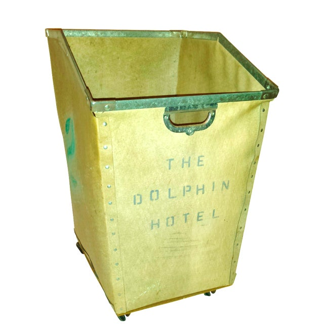Dolphin Hotel 1960 Industrial Laundry Cart - Image 1 of 10