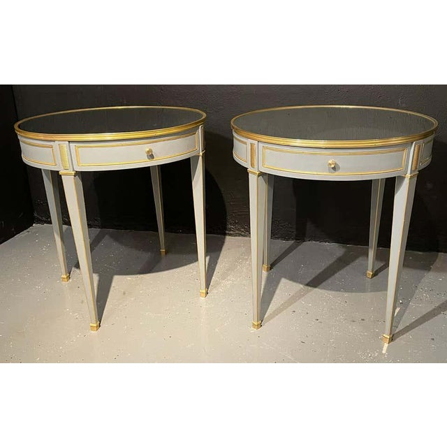Late 20th Century Vintage Jansen Style Painted End or Lamp Tables, Bouilliote Form - a Pair For Sale - Image 5 of 8