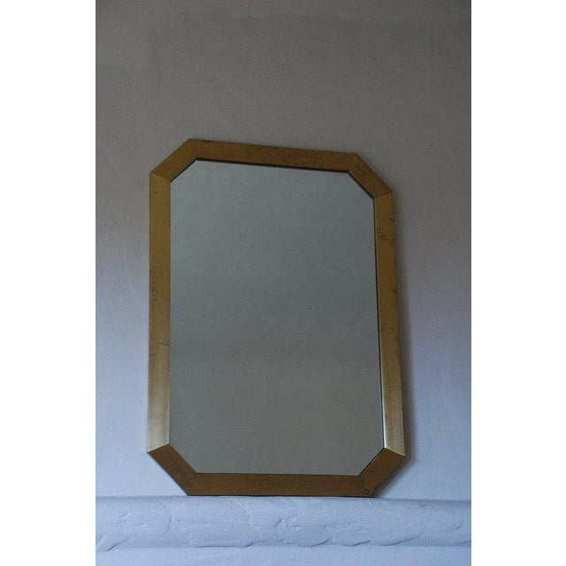French 1970's Octogonal Brass Mirror by Guy Lefevre For Sale In Los Angeles - Image 6 of 6